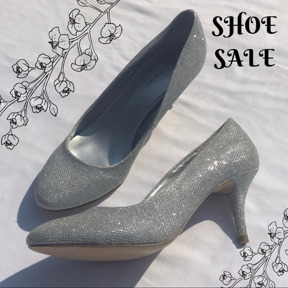 705f8ab8a4e9f Call It Spring Shoes - Silver Sparkle Shoe Women 8 Heel Round Toe Prom
